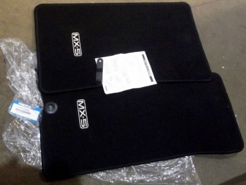Mat set, MX-5 mk1, mk2 & mk2.5, RHD, black, genuine Mazda luxury mats
